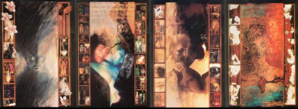 Capas de Sandman 1-4. Arte de Dave McKean.