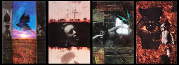 Capas de Sandman 9-12. Arte de Dave McKean.