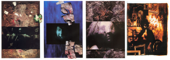 Capas de Sandman 13-16. Arte de Dave McKean.