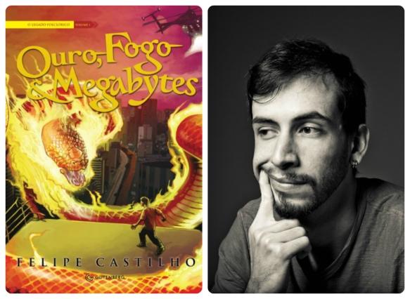 A capa de Octavio Cariello e o autor Felipe Castilho