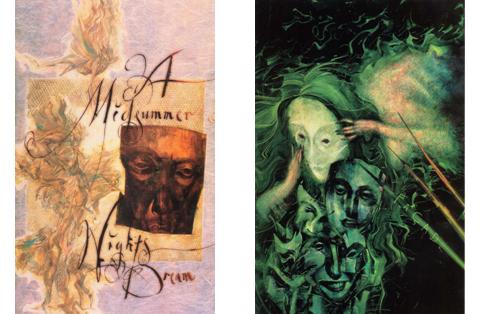 Capas de Sandman 19 & 20 – Arte de Dave McKean.